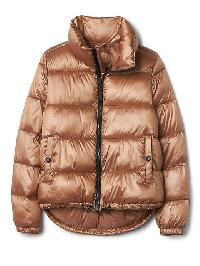 Gap Coldcontrol Lite Shine Puffer Jacket - Rose gold