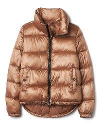 Gap Coldcontrol Lite Shine Puffer Jacket - Rose gold