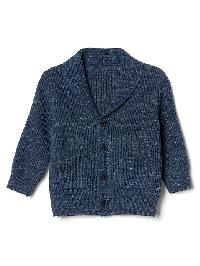 Gap Budding Shawl Cardigan - Light blue marl