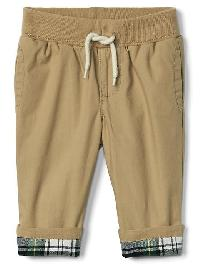 Gap Flannel Lined Pants - Buckskin