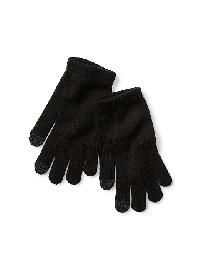 Gap Tech Touch Knit Gloves - True black