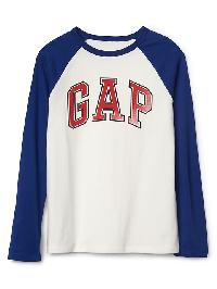 Gap Graphic Long Sleeve Baseball Tee - New off white