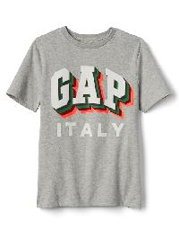 Gap Colorblock City Logo Tee - Grey