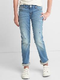 Gap Stretch Jersey Lined Straight Jeans - Medium wash