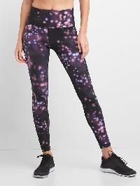 Gap Gfast High Rise Blackout Crossgrain Leggings - Celestial purple