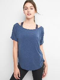 Gapfit Breathe Roll Sleeve Tee - Pangea blue
