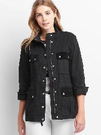 Gap Twill Cord Utility Jacket - Black