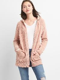 Gap Chenille Open Front Cardigan - Chalk pink 440