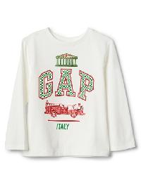 Gap City Logo Long Sleeve Tee - New off white opt2