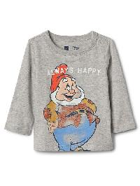 Babygap &#124 Disney Baby Snow Whites And The Seven Dwarfs Top - Light heather grey b08