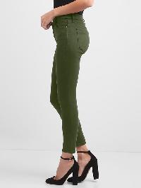 Gap Mid Rise Sculpt True Skinny Jeans - Green