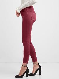 Gap Mid Rise Sculpt True Skinny Jeans - Rose