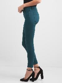 Gap Mid Rise Sculpt True Skinny Jeans - Blue gray