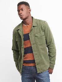 Gap Fatigue Shirt Jacket - Black moss