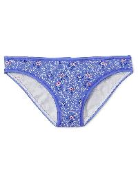 Gap Stretch Cotton Bikini - Tiny flowers blue