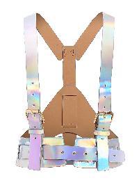 Iridescent Buckle Harness Belt