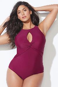 Berry Keyhole Swimsuit